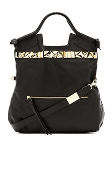 Foley + Corinna Studded Mid City Bag in Black