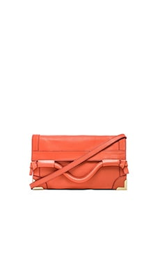 Foley + Corinna Framed Flap Crossbody in Coral
