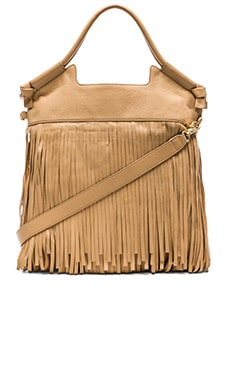 Foley + Corinna Fringed City Tote in Biscuit