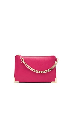 Foley + Corinna Framed Wristlet Clutch in Rose