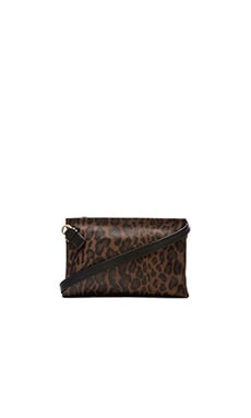Foley + Corinna Cache Crossbody in Brown Leopard
