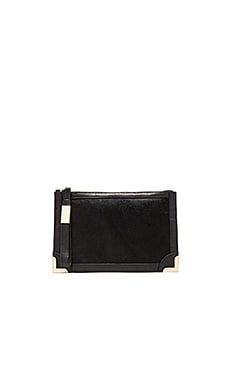 Foley + Corinna Frankie Wristlet in Black Hair calf