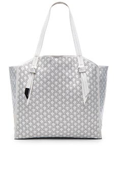 Tye Tote in White Perforated