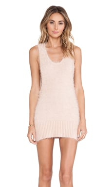 KNITZ by For Love & Lemons Ski Bunny Tank Dress in Blush