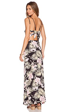 For Love & Lemons Palms Maxi Dress in Pastel Palm Floral