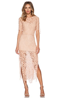 For Love & Lemons Luna Maxi Dress in Pale Blush