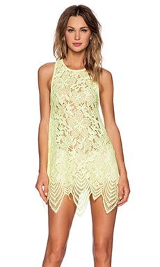 For Love & Lemons Summer Lilly Mini Dress in Lemon Drop
