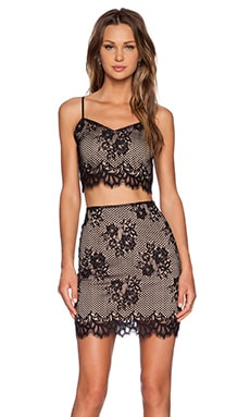 For Love & Lemons x REVOLVE Tiki Bar Crop and Skirt Set in Black