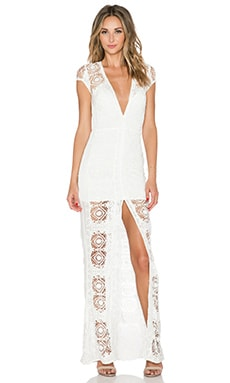 For Love & Lemons Mariposa Maxi Dress in White