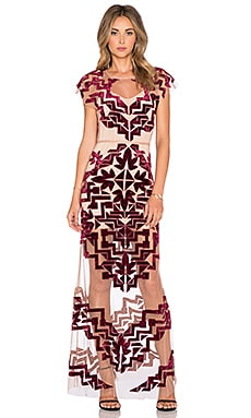 For Love & Lemons Vienna Maxi Dress in Burgundy