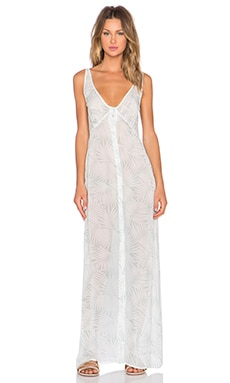 For Love & Lemons Desert Palm Maxi Dress in Sage Palm