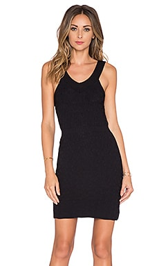 Camilla Knit Mini Dress in Black