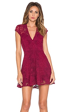 For Love & Lemons Sienna Mini Dress in Scarlet