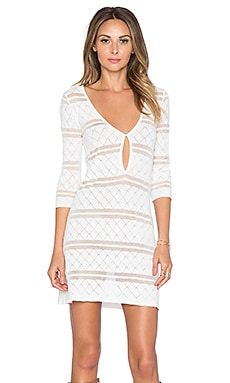 KNITZ by For Love & Lemons Stevie Mini Dress in Vintage Ivory
