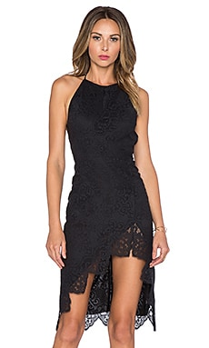 For Love & Lemons x REVOLVE Maui Waui Dress in Black Lace