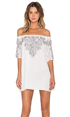 For Love & Lemons Sicily Mini Dress Ivory