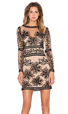 For Love & Lemons Desert Nights Mini Dress in Black