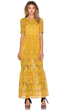 For Love & Lemons Siena Maxi Dress in Goldenrod