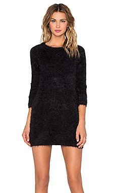 KNITZ by For Love & Lemons Bardot Sweater Dress in Black