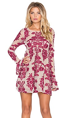 For Love & Lemons Temecula Mini Dress in Wine