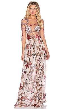 For Love & Lemons Sierra Maxi Dress in Blush Floral