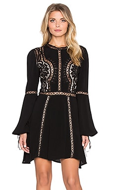 For Love & Lemons Penelope Mini Dress in Black