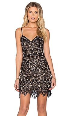 For Love & Lemons Vika Mini Dress in Black