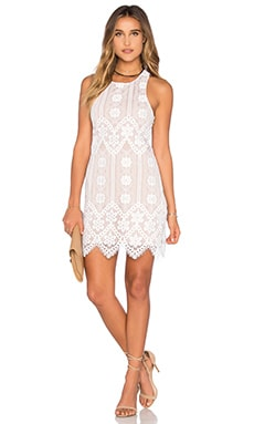 x Revolve Dress in White & Nude