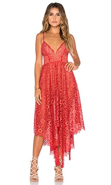 For Love & Lemons Rosemary Dress in Cherry
