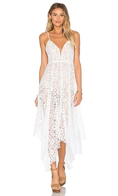 For Love & Lemons Rosemary Midi Dress in Ivory