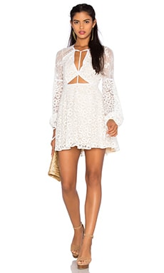 For Love & Lemons x REVOLVE Daisy Dress in Butter Cream