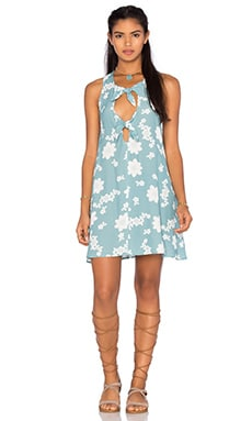 For Love & Lemons Sweet Jane Swing Dress in Robin Blue