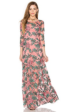 For Love & Lemons Rosali Maxi Dress in Mauve Floral