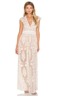 x REVOLVE Violetta Dress in Nude Ivory