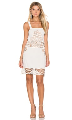 For Love & Lemons Gracey Tank Dress in Ivory