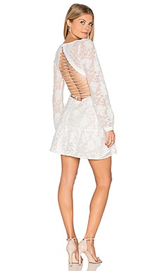 Jolene Lace Up Dress in White