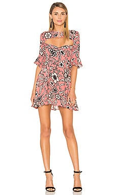 Ayla Laced Up Dress in Pink Floral