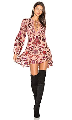 For Love & Lemons Saffron Mini Dress in Sunset Floral