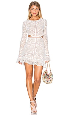 For Love & Lemons Emerie Cut Out Dress in White
