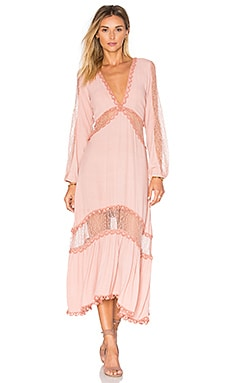 For Love & Lemons Lilou Dress in Dusty Pink