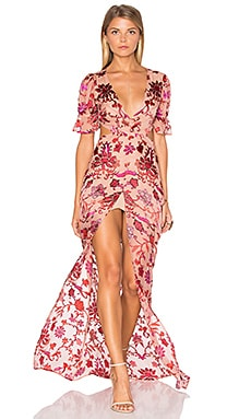 For Love & Lemons Saffron Maxi Dress in Sunset Floral