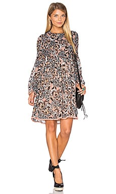 Gracie Mini Dress en Nude Floral