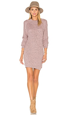 For Love & Lemons KNITZ Lafayette Dress in Grey & Pink