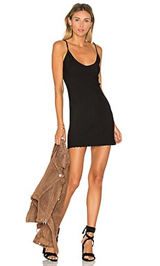 x KNITZ Simone Tank Mini Dress in Black