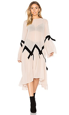 Adalyn Poncho Dress in Champagne
