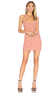 x KNITZ Simone Tank Mini Dress en Rose