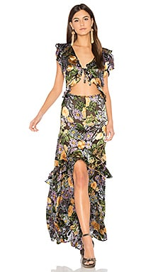 Luciana Maxi Dress in Black Floral