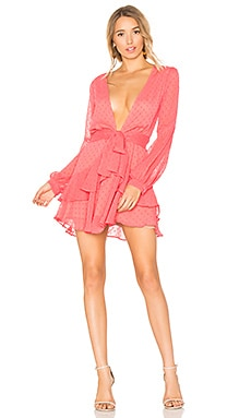 Tarta Long Sleeve Mini Dress in Flamingo