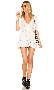 X REVOLVE Eyelet Dress in White