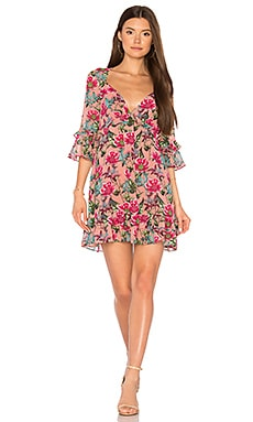 Churro Mini Dress in Pink Flamenco